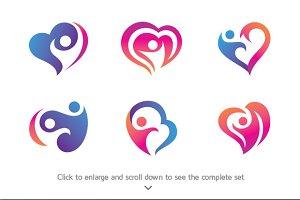 6 People Care Logo Bundle