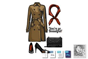 Trench coat fashion look