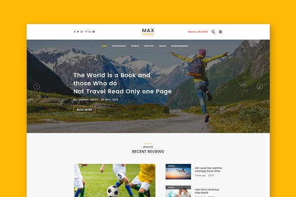 Max Magazine WordPress Blog Theme