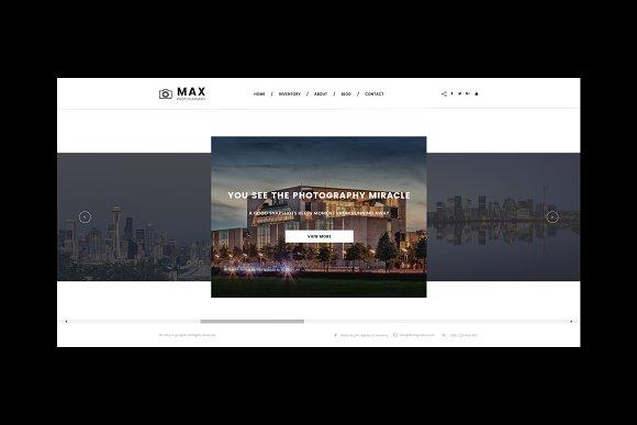 Max Photography WordPress Theme