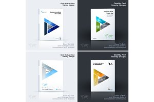 Brochure design, abstract annual report, business vector template.