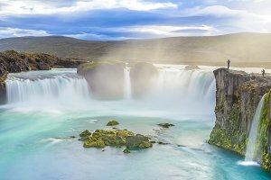 Amazing Godafoss waterfall, Iceland