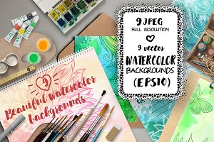 9 Watercolor backgrounds