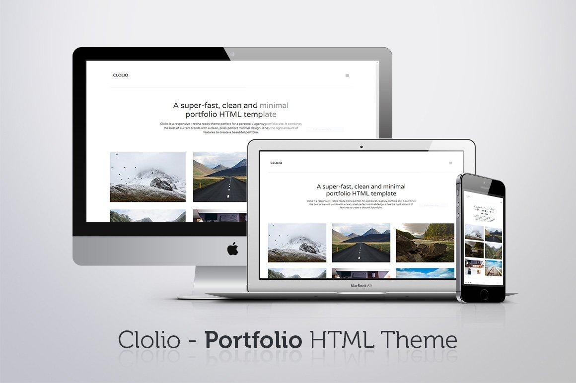 Intent - Minimal Portfolio Template ~ HTML/CSS Themes ~ Creative Market