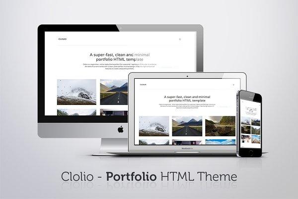 HTML/CSS Themes: Elegrad Design Agency - Clolio - Portfolio HTML Theme