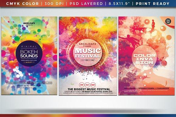 Colorful Flyer Posters Bundle Vol 8
