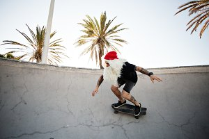 Santa Claus on holidays