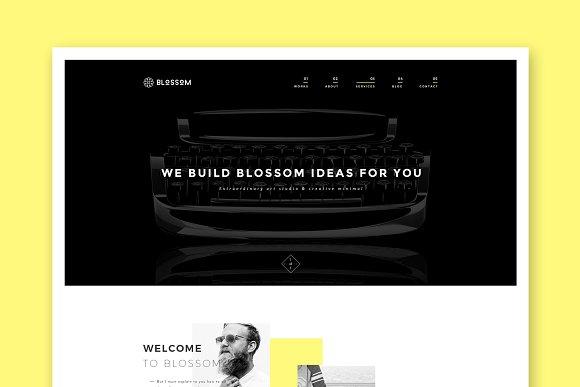 Blossom MInimal WordPress Theme