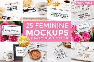 25 Feminine Mockups