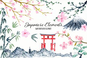 Japanese Elements Clip Art