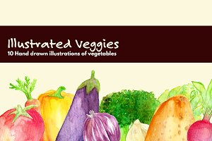 Illustrated Veggies