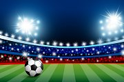 Vector soccer stadium with light