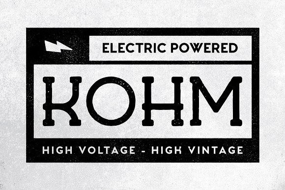 Kohm Is A Vintage Display Serif Font With Rough Aesthetic Its Great For Logos Posters Packaging And Badges It Includes Uppercase Multilingual Letters