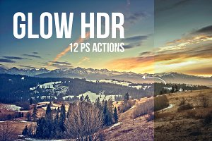 (50% off) Glow HDR | 12 PS Actions