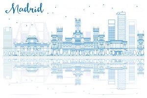 Outline Madrid Skyline