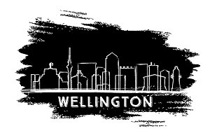 Wellington Skyline Silhouette.