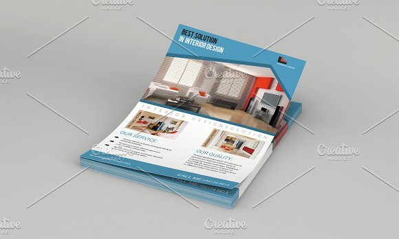 Interior Design Flyer Template-V578