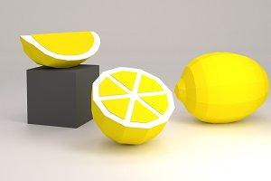DIY Lemon & Orange 3D model template