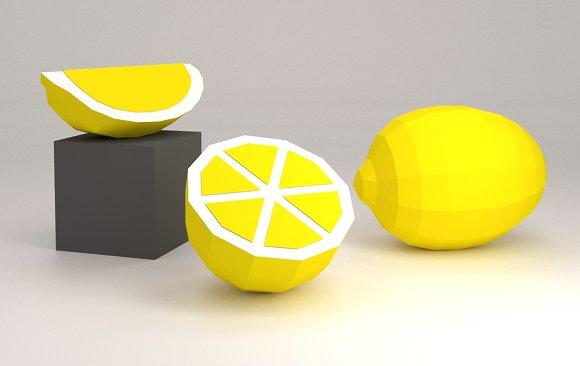 DIY Lemon Orange 3D Model Template