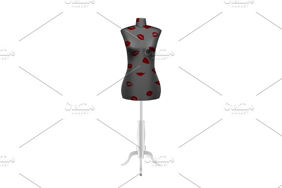 Tailors Dummy Mannequin With Lips Pattern