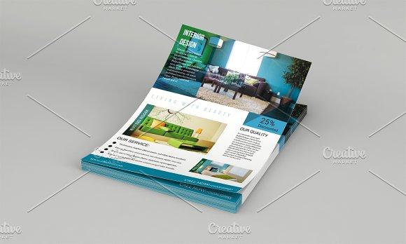 Interior Design Flyer Template-V579