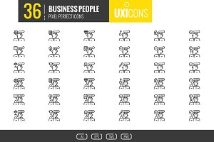 UXIcons: 36 Business People icons