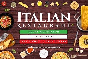 Italian Restaurant Scene Generator