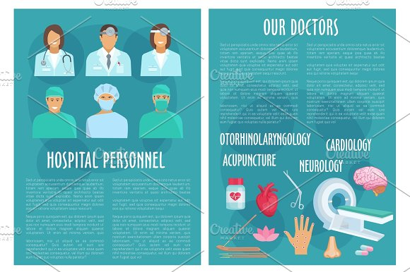 Medical Or Hospital Healthcare Vector Brochure