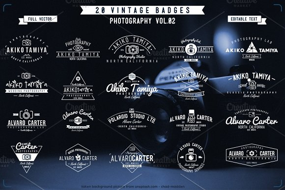 20 Vintage Badge Photography V.02