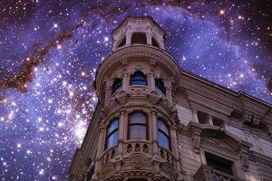 Building and Small Magellanic cloud