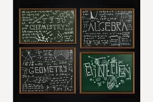 School Blackboards Set