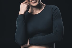 young fitness woman smiling