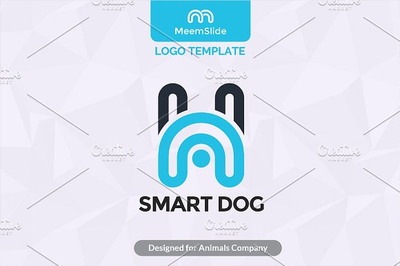 Smart Dog Minimal Logo Template