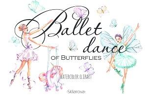Ballet watercolor clipart
