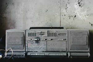 Dusty old musical tape recoreder