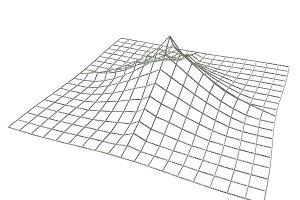 Terrain landscape wireframe