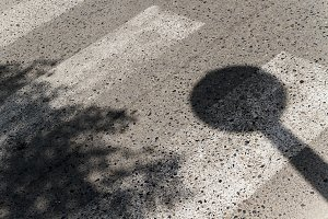 Shadow of a traffic signal
