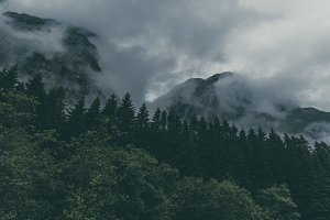 Vintage Mountains after the Rain