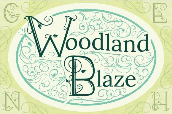 Woodland Blaze Alphabet