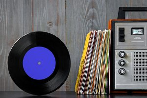 Vinyl records and sound equipment