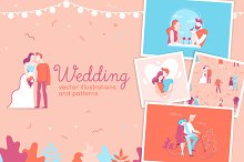 Wedding - vector illustrations