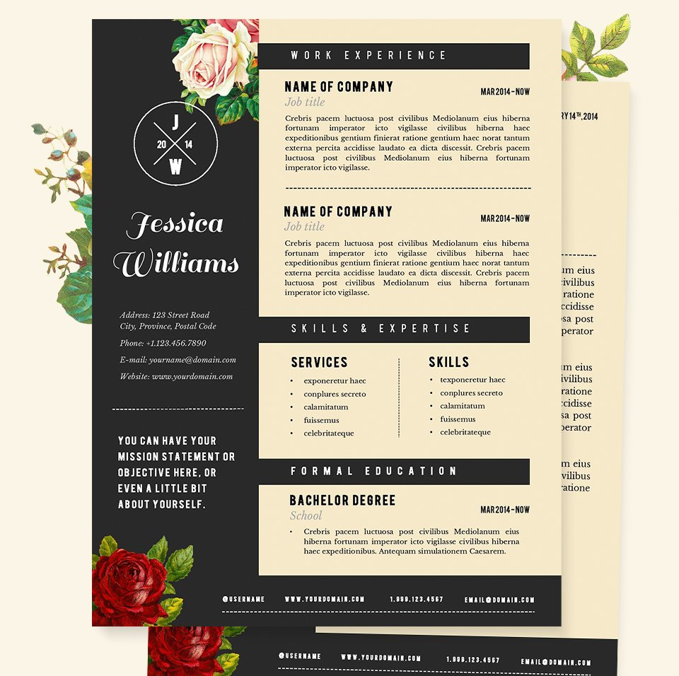 creative resume templates you won t believe are microsoft word hipster resume cv template pkg