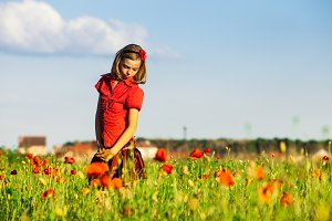 Girl in poppies