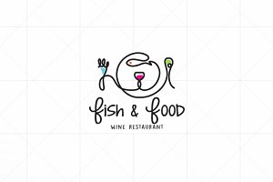 Fish  I  Food  I  Wine  -  Logo
