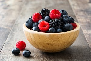 Healthy berries in a bowl