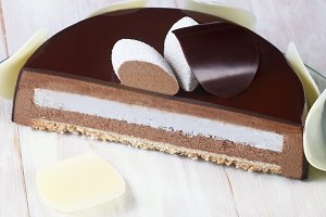 Chocolate Coconut Mousse Cake