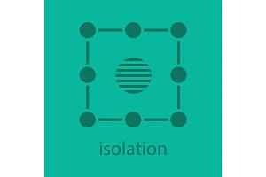 Isolation symbol glyph color icon