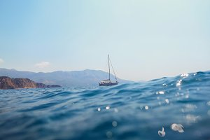 yacht sail in sea