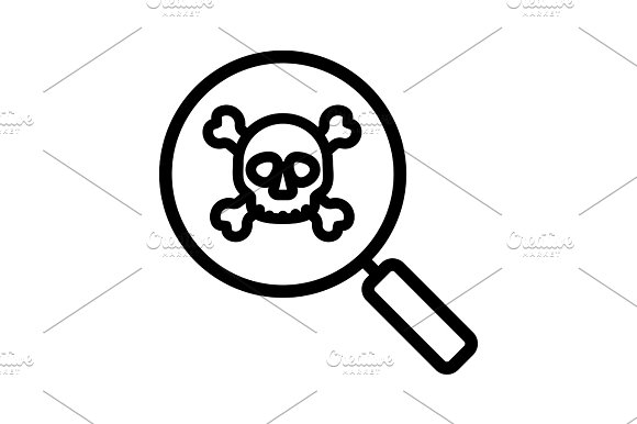 Virus Research Linear Icon