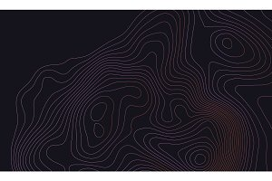 Dark colorful topographic map background